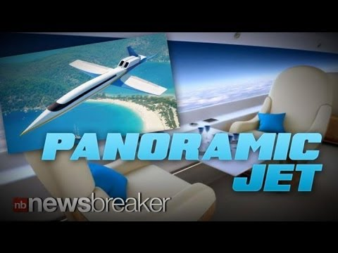 PANORAMIC JET: Private Plane Offers Window Screens that Cover Entire Wall Length