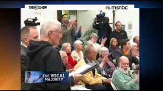 Ed Show Ryan budget picked apart at town hall  Part1
