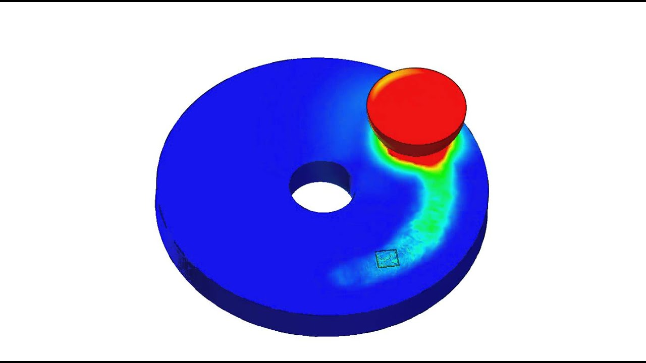 Computer Model Of The Pin On Disc Test Youtube
