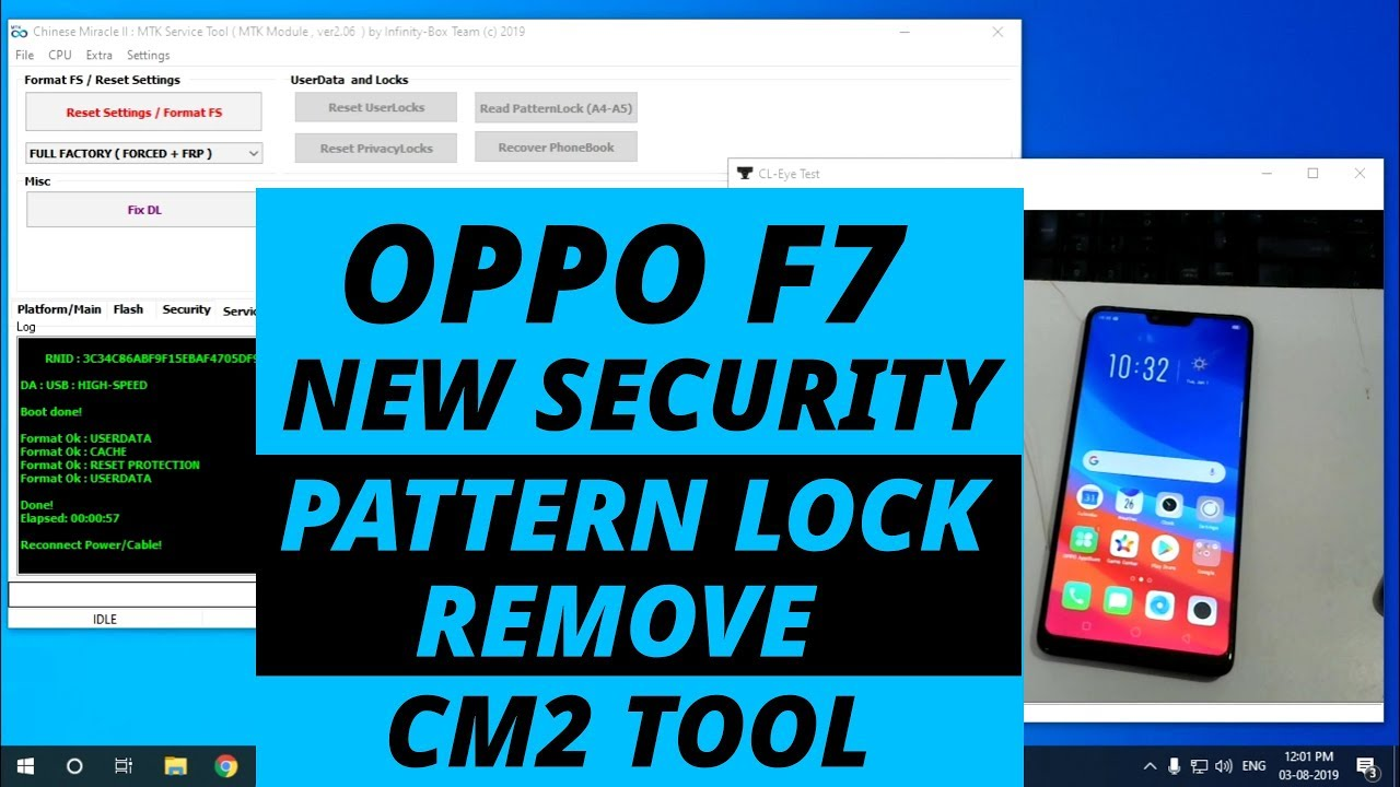 OPPO F7 New Security Pattern Lock Remove CM2