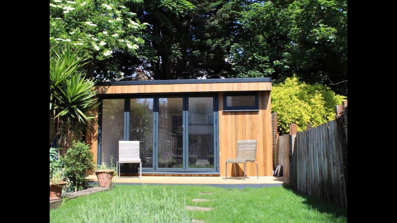 Garden Studio with bathroom built in West London - YouTube