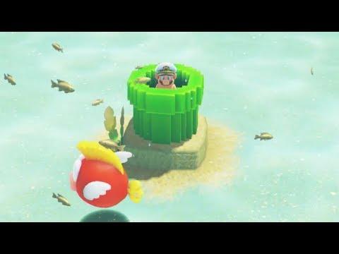 Seaside Kingdom's 8-Bit Section (Super Mario Odyssey)