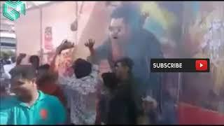 jai lava kusha NTR fans hungama at theatres before release