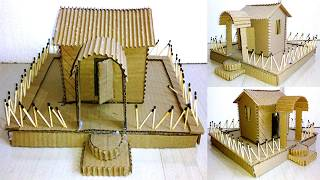 HOW TO MAKE PAPER HOUSE | MATCHSTICK CRAFT |CRAFT |ART | IDEA | INDIAN YOUTUBE VIDEOS | INDIA