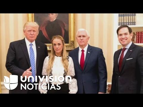 Trump pide a Venezuela sacar de prisión a Leopoldo López tras reunirse con Lilian Tintori
