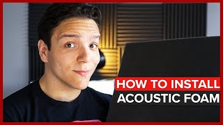 Install Acoustic Foam Fast! Without damaging your wall!