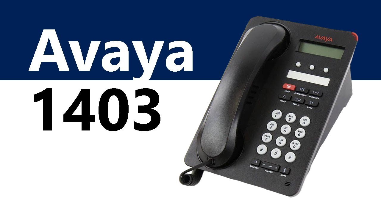 700469927 AVAYA 1403 BLACK DIGITAL PHONE 1403D01A-003 .
