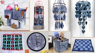 Old Jeans Reuse !!! 10 Best Old Clothes Decor & Organizations