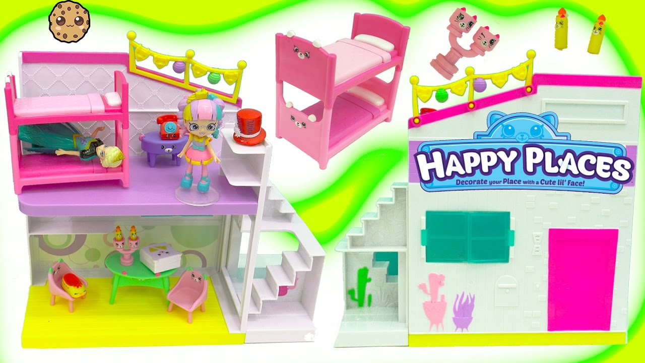 Download Petkins Shopkins Happy Places Home Party Studio + Surprise Blind Bags with Rainbow Kate + Queen Elsa