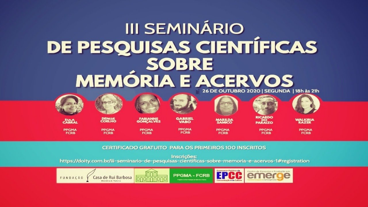 EPCC disponibiliza pesquisas e projetos sobre Memória e Acervos