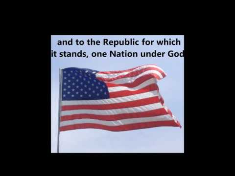 The Pledge of Allegiance words lyrics USA UNITED STATES Patriotic School Assembly Citizenship