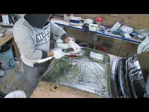 FIBER GLASSING GEL COAT AND GET READY HOLDEN MONARO BONNET SCOOP LOOK A LIKE