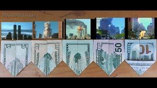 Las Torres Gemelas en Dólares de 5,10,20,50,100 Tras el Impacto