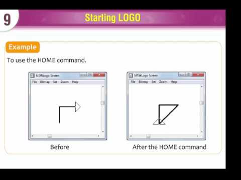 computer lesson 58 logo commands youtube