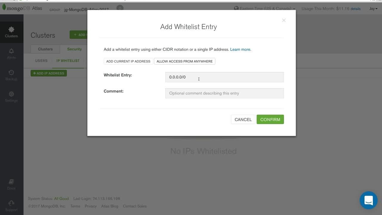 [Tutorial] Configuring your IP whitelist in MongoDB Atlas
