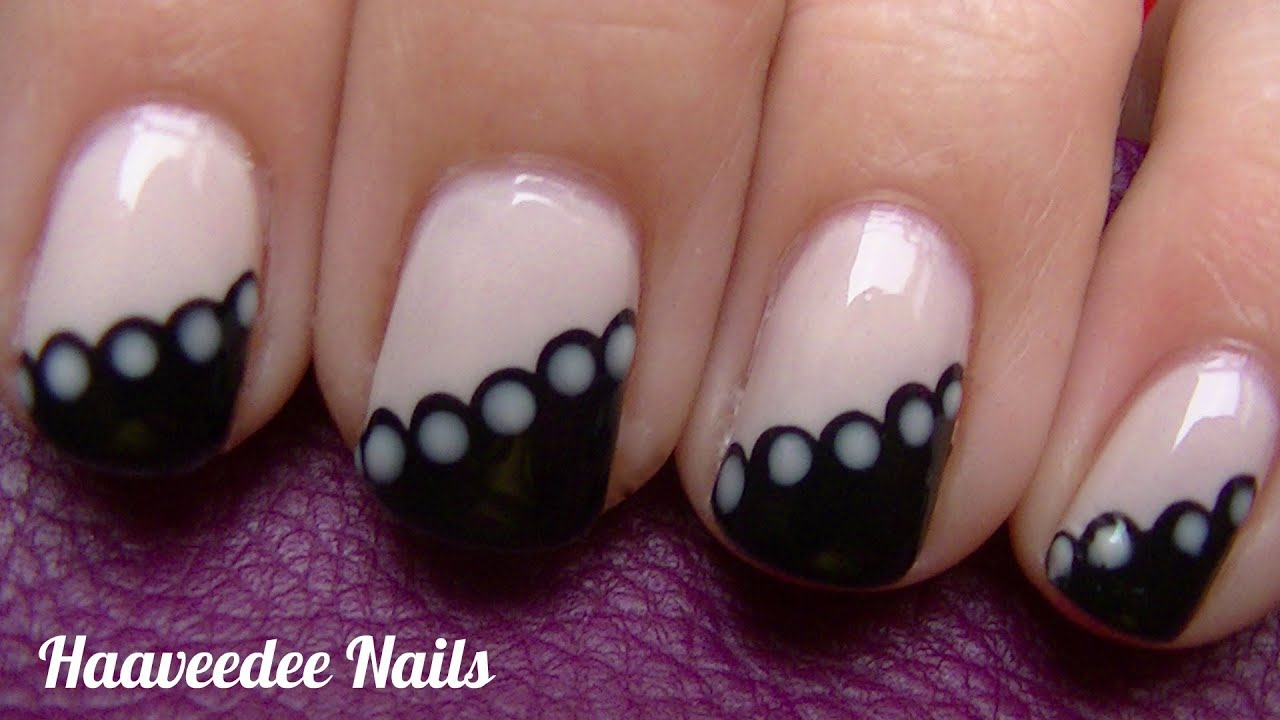 Elegant nail art - YouTube
