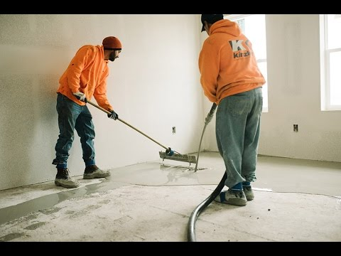 Gypsum Concrete Underlayment Project Profile Youtube