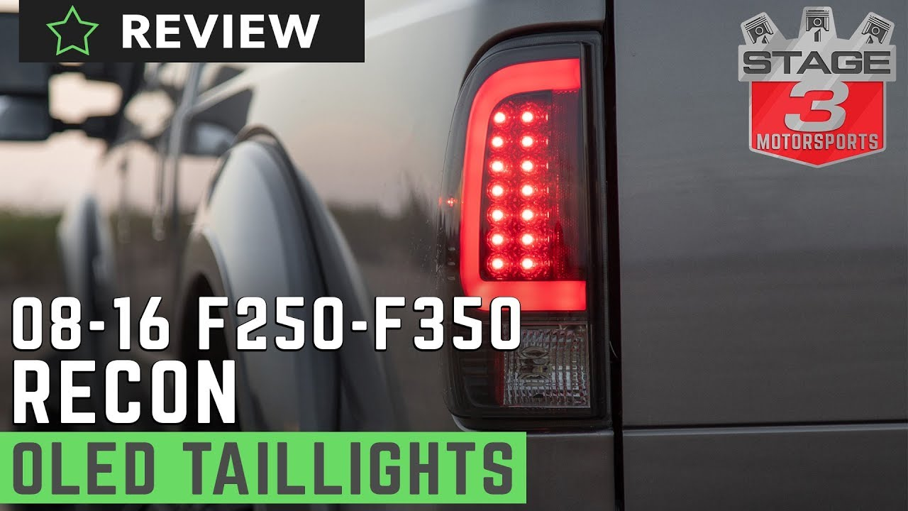 2008 2017 F250 F350 Recon Smoked Led Tail Lights Review