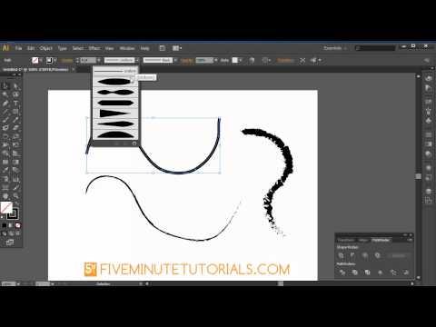 Adobe Illustrator CS6 Pencil, Brush, Blob Brush, & Eraser Basics