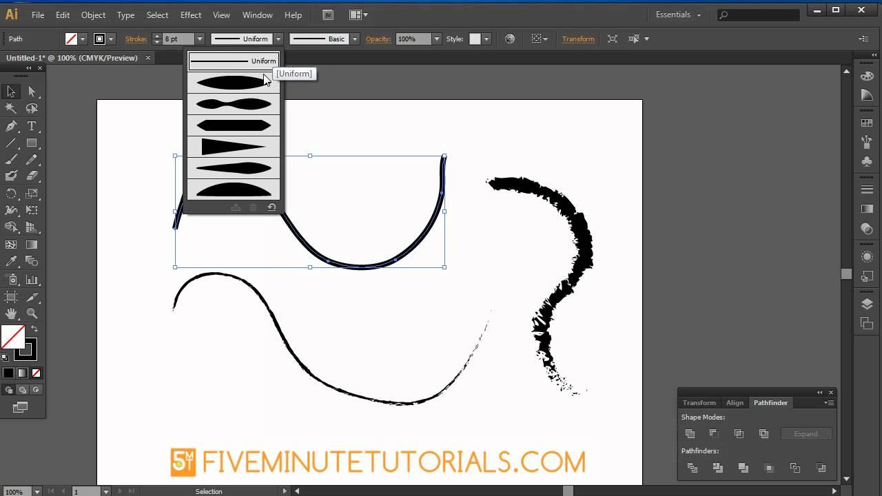 Adobe illustrator CS6 Pencil, Brush, Blob Brush, & Eraser Basics ...