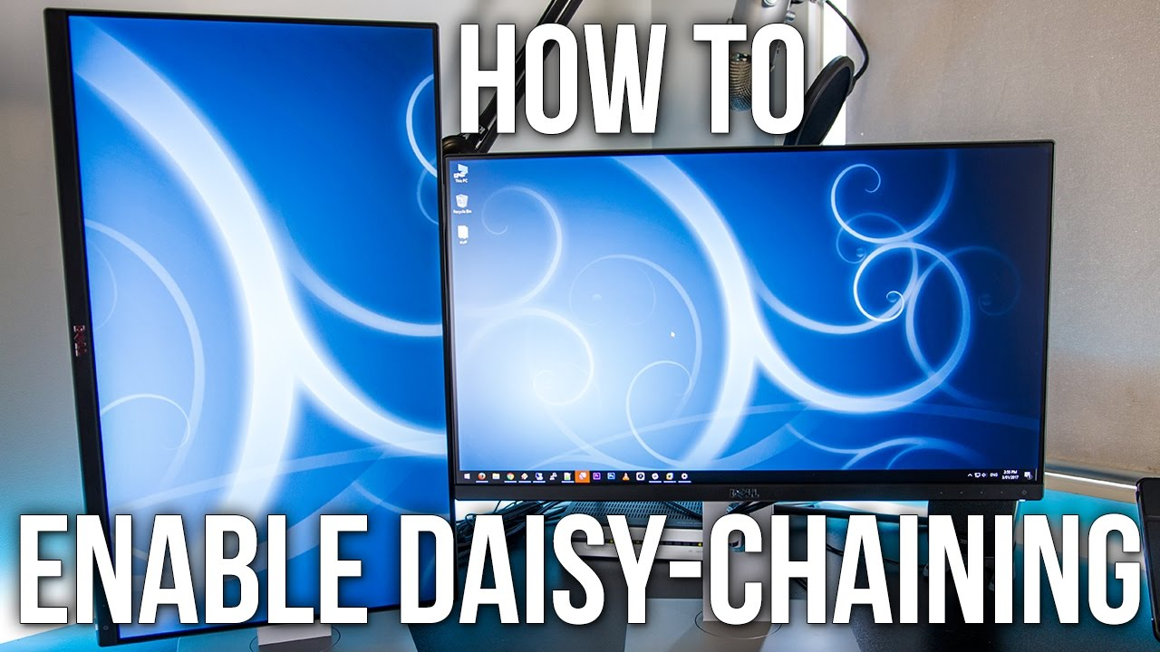 How To Enable Daisy-Chaining On The Dell U2414H Monitor Daisy Chain Monitors Wiring Diagram on