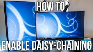 How To Enable Daisy-Chaining On The Dell U2414H Monitor