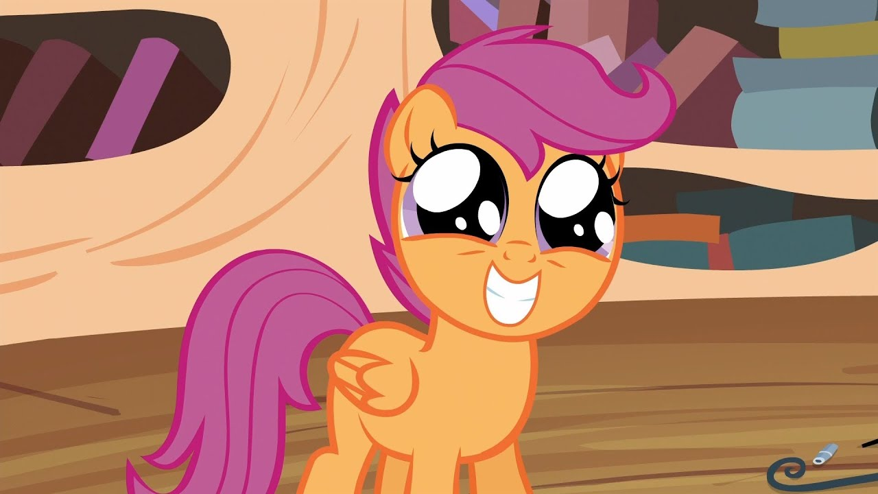Scootaloo Squee Youtube It might be a funny scene, movie quote, animation. scootaloo squee