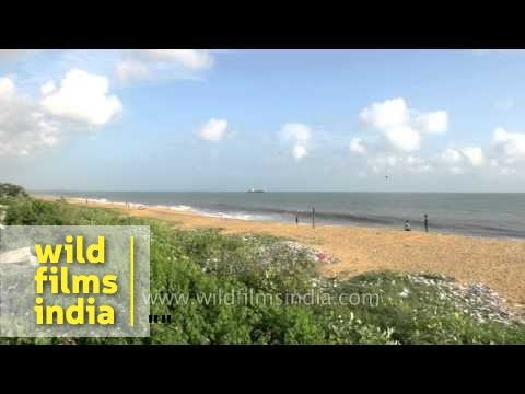 View of Kollam beach, Quilon - Kerala