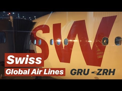 Swiss Global Air Lines Boeing 777-300ER Economy Class Experience GRU - ZHR LX91