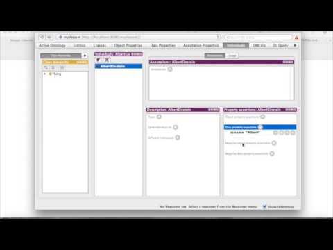 How to build a RDF dataset in Protégé