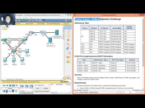 8.3.1.2 - 10.3.1.2 Packet Tracer - Skills Integration Challenge