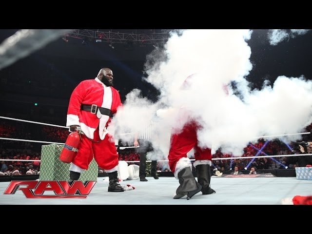 Good Santa vs. Bad Santa - The Battle for Christmas: Raw, Dec. 23, 2013 Travel Video