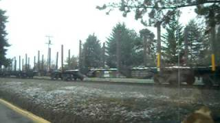 Log Freight Train Hillsboro To Aloha Oregon Then British Columbia Canada Rail Fans