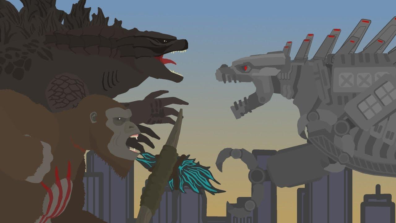 Godzilla & KONG vs Mecha Godzilla     FINAL BATTLE     Pivot Animation