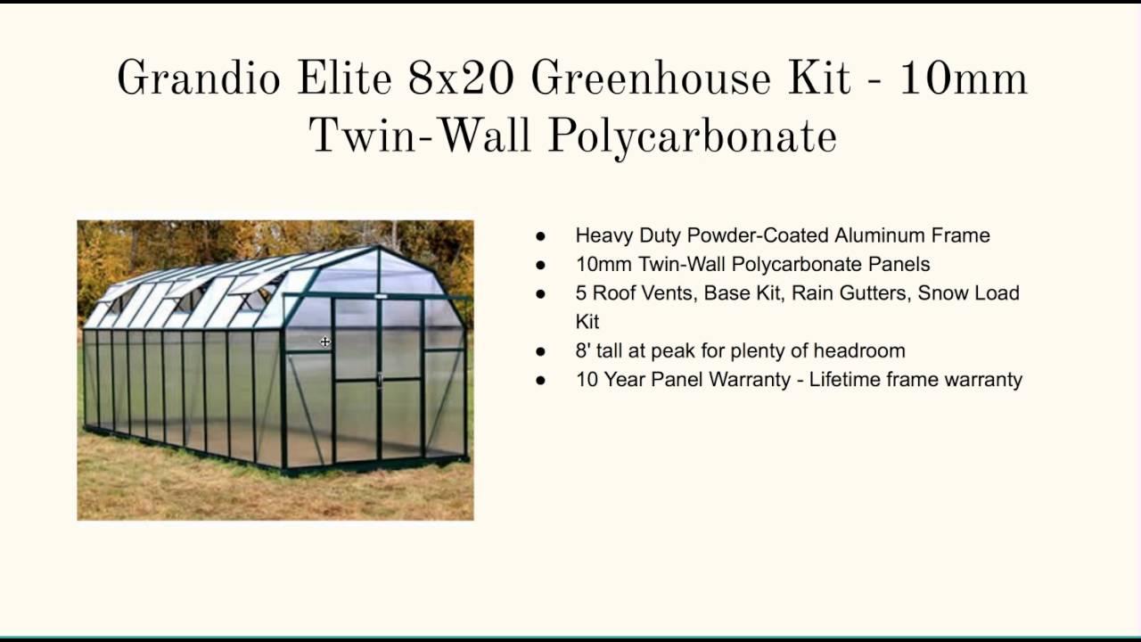 10x20 Greenhouse Kits - YouTube