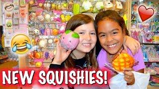 BFFs SHOPPING FOR SQUISHIES!!! Squishy Shopping Vlog and Sleepover | Sedona Fun Kids TV