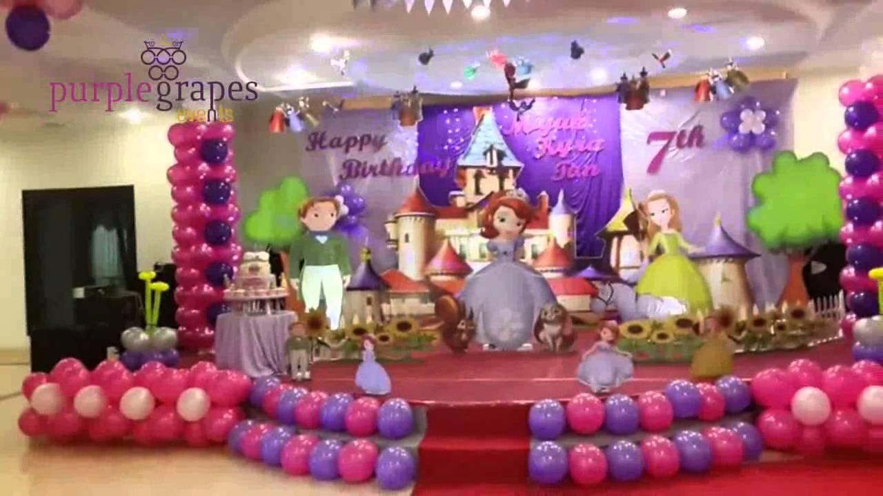 Sofia Theme Birthday Party Youtube