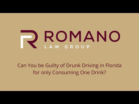 Can You be Guilty of Drunk Driving in Florida for only Consuming One Drink?