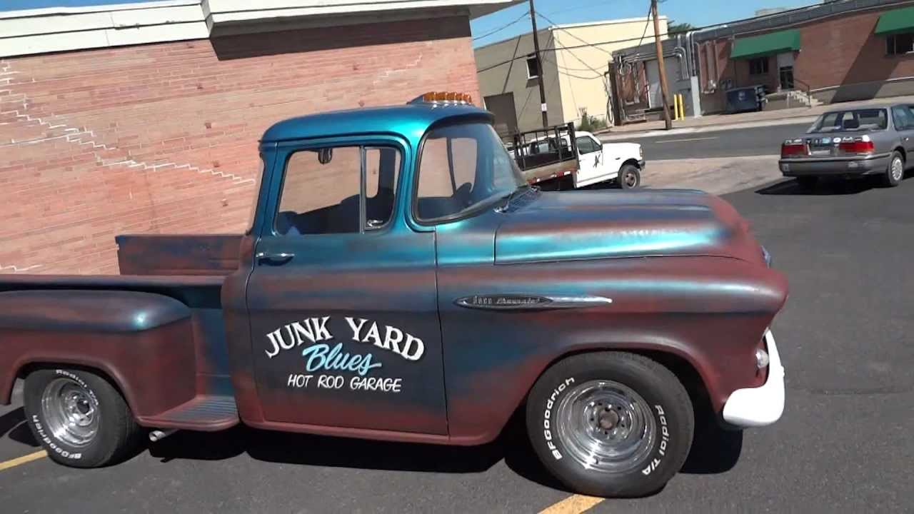 Truck 56 chevy truck : 1956 Chevrolet Custom Big Window Short Bed Stepside Pickup For ...