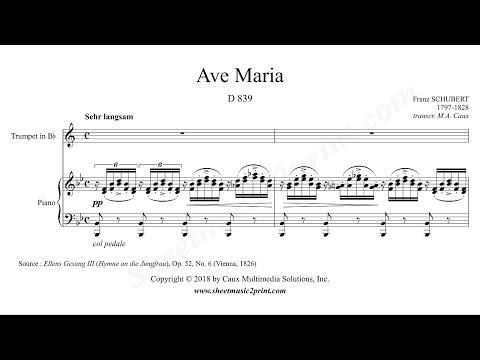Schubert : Ave Maria - Trumpet