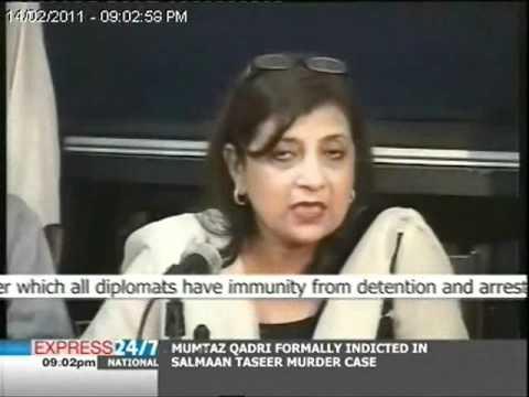 Davis has a diplomatic visa which offers immunity: Fauzia Wahab