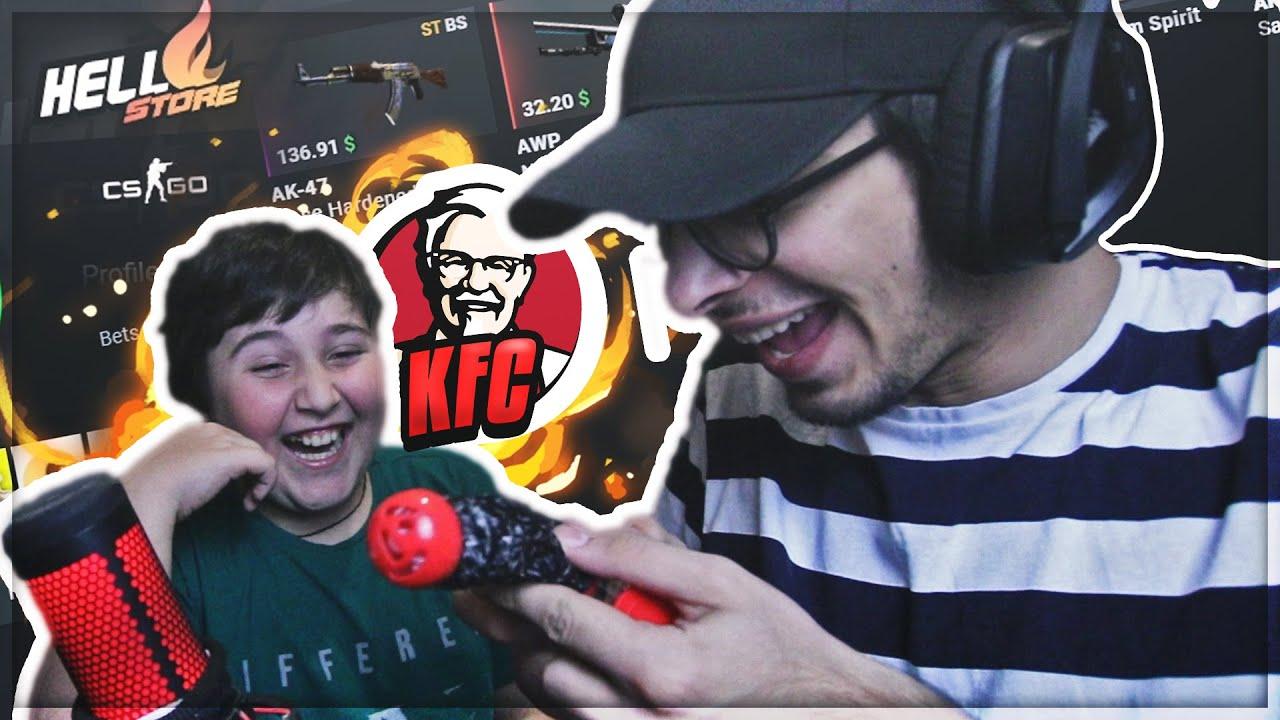 მოიგებს დათუნა KFC -ს?! ძმებთან ერთად თამაში CSGO სკინებზე! | Hellstore