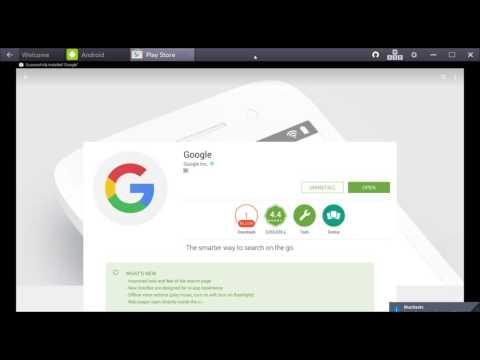 Set Bluestacks with Google Launcher