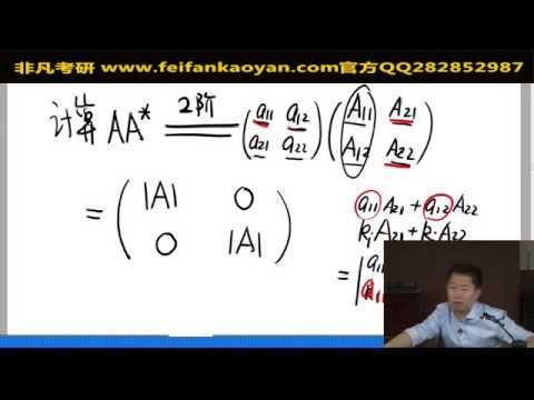 12 伴隨矩陣及其運算(1) - YouTube