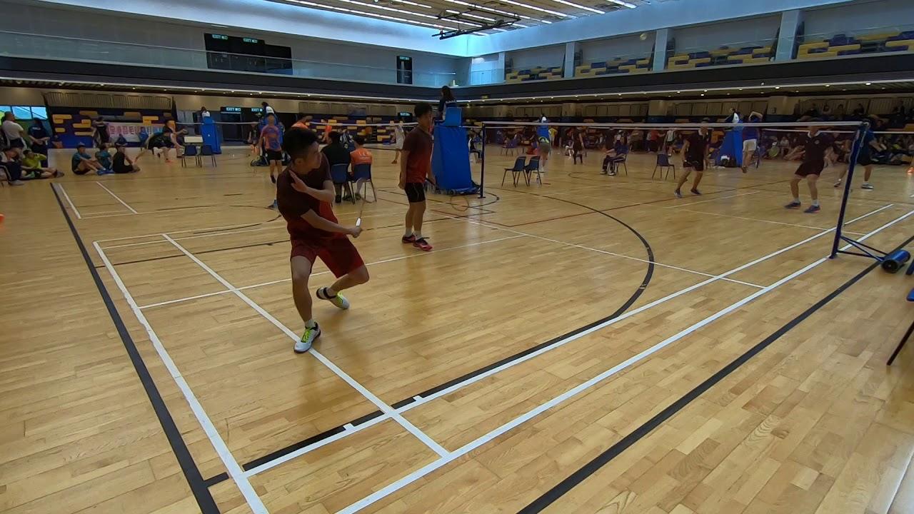 2019全港羽毛球雙打聯賽 男雙 B grade江濱 vs 紀利華木球會 set 3 1/2 - YouTube