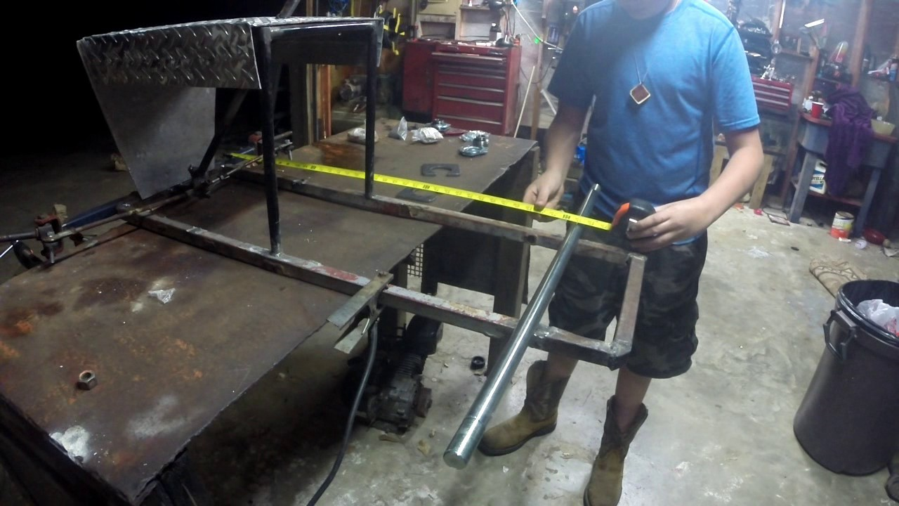 Racing Mower Axle : Racing mower go cart update rear axle youtube