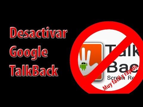 Como desactivar talkback