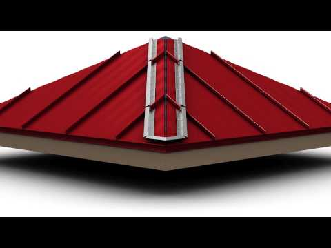 How to Install Standing Seam Metal Roofing - Hip Cap
