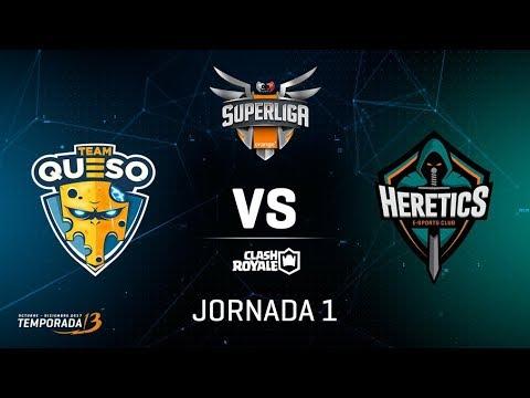 SUPERLIGA ORANGE - Team Queso vs Team Heretics - Jornada 1 - #SuperligaOrangeCR1