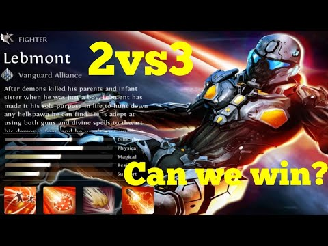 Heroes Of Order & Chaos! Insane Lebmont! Can We Win 2v3???